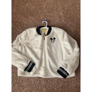 SUPER soft Mickey varsity jacket